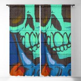 Streetart Skeleton Blackout Curtain