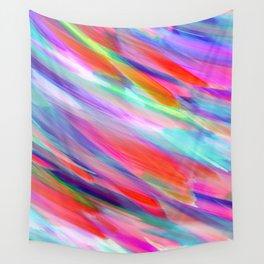 Colorful digital art splashing G399 Wall Tapestry