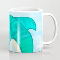 dolphin Mugs featuring Dolphin by Claire Lordon