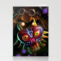 majoras mask Stationery Cards featuring Majoras Mask by Max Grecke