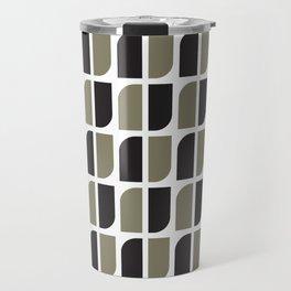 Geometric Pattern #41 (black gray) Travel Mug