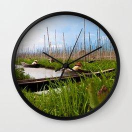 Floating gardens Wall Clock