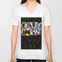 minneapolis V-neck T-shirts featuring Postcard From Minneapolis by AF Knott