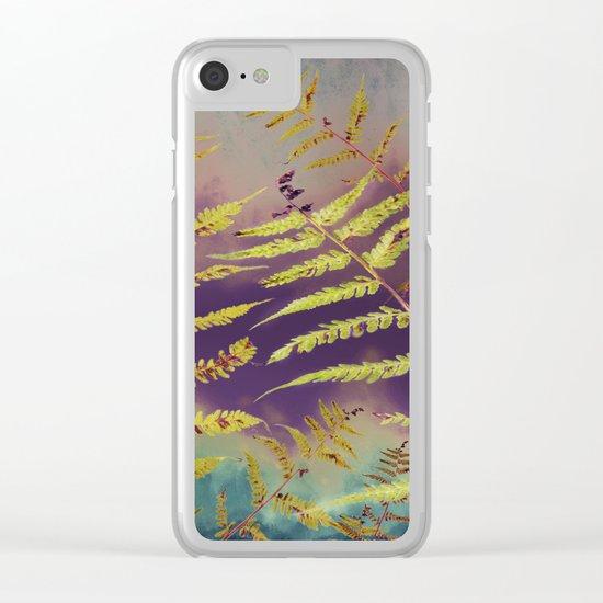 Faded Bracken Clear iPhone Case