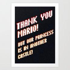 Thank You Mario! Art Print