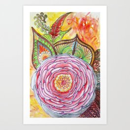 Rose ancestrale Art Print