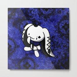 Princess of Spades White Rabbit Metal Print