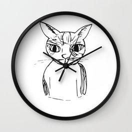 A Cat Named Toby Wall Clock