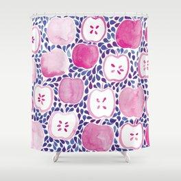 Watercolour Apples | Purple and Blue Palette Shower Curtain