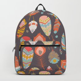 Tribal feather pattern 029 Backpack