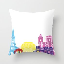 San Jose CR skyline pop Throw Pillow