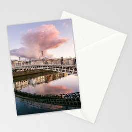 Pink Cloud over Ha'penny Bridge Stationery Cards