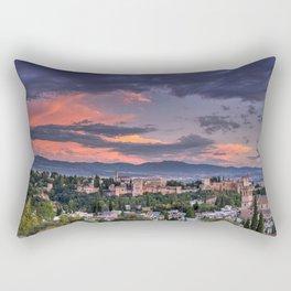 The Alhambra Palace and Albaicin. Granada. Spain at sunset Rectangular Pillow
