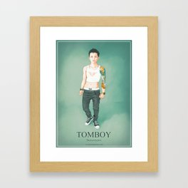 Tomboy. Stereotypes Collection. Framed Art Print