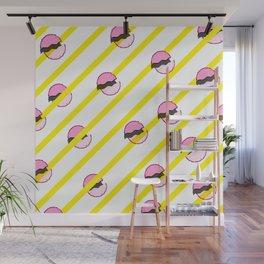 pink trunk polka dots stripe Wall Mural