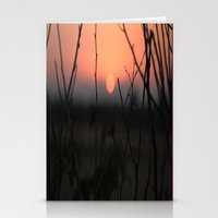 catcher in the rye Stationery Cards featuring Sunset over Rye Marshes by Jo Dale Photography