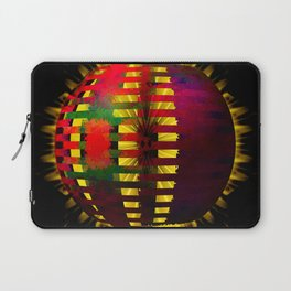 Red Layered Star in Golden Flames Laptop Sleeve