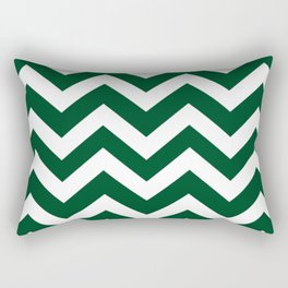 Forest green (traditional) - green color - Zigzag Chevron Pattern Rectangular Pillow