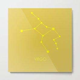VIRGO (YELLOW-GOLD STAR SIGN) Metal Print