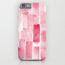 Pink  Watercolour Patterns | 190129 Abstract Art Watercolour iPhone Case