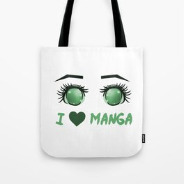I Love Manga (2) Tote Bag