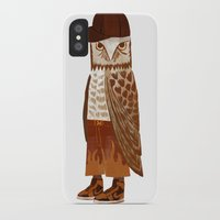 hip hop iPhone & iPod Cases featuring Hip Hop Owl by Santiago Uceda