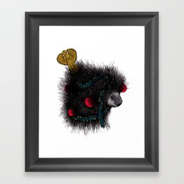Christmas Porcupine Tree Framed Art Print