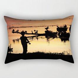 Little Boy Fishing Rectangular Pillow