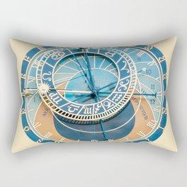 Closeup on Prague Astronomical Clock Rectangular Pillow