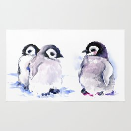 Penguins, penguin design baby penguin art, children gift Rug