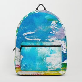 Algae and Aqua - Abstract Painting Backpack