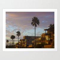 El Porto Sunset 3 Art Print