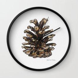 Pinecone watercolor Wall Clock