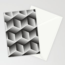 Black And White cuber Stationery Cards