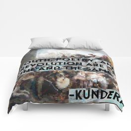 Youth, Poetry, Revolution: Kundera Quote Comforters