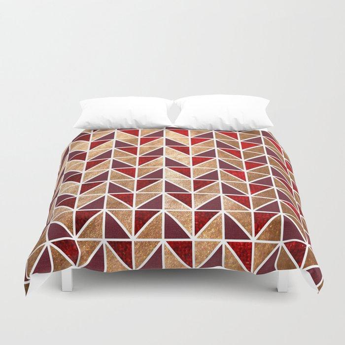 Xmas Geometric Pattern Duvet Cover