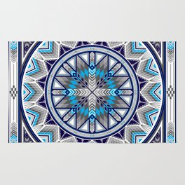 Sacred Places Blue Rug