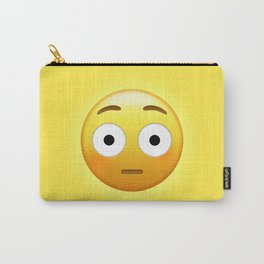 Flushed Face Emoji | Pop Art Carry-All Pouch