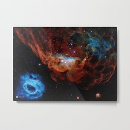Hubble Telescope: Cosmic Reef (2020), NGC 2014, NGC 2020 Metal Print