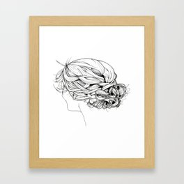 Messy Braid Bun Framed Art Print