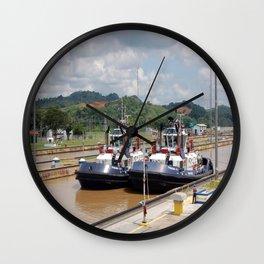 a couple of tugboats Wall Clock