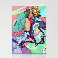 jjba Stationery Cards featuring Caesar Zeppeli JJBA Battle Tendency by Lemonade Stand Of Life