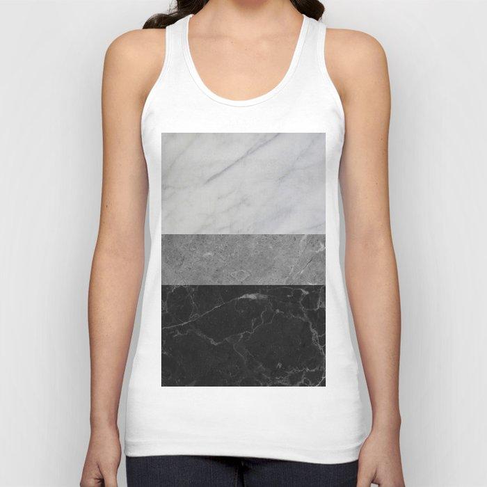 Marble - White, Grey, Black Unisex Tanktop