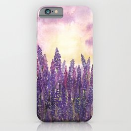 Lavender Field At Dusk iPhone Case