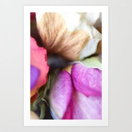 Old Roses Art Print - Floral Detail Photography - Colorful Texture Foliage Art Print