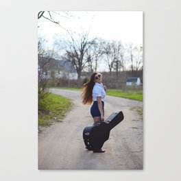 Girl + Guitar  Canvas Print