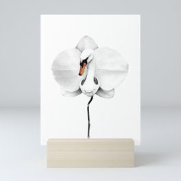 Swan orchid Mini Art Print