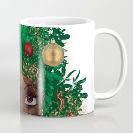 Afro Christmas Tree Design Cards & Gifts Coffee Mug