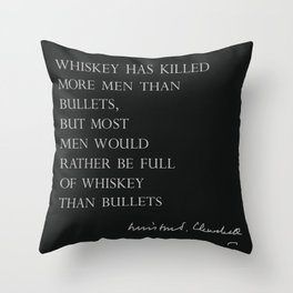 Whiskey & Bullets Throw Pillow