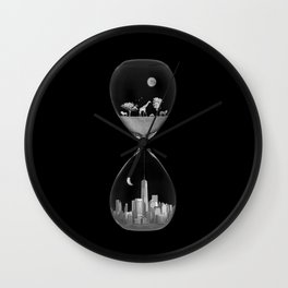 THE EVOLUTION OF THE WORLD b/w Wall Clock